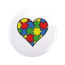 """Autism Puzzle 3.5"""" Button"""
