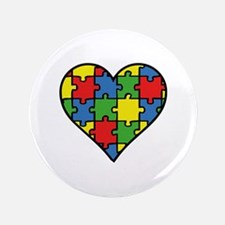 "Autism Puzzle 3.5"" Button"