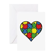 Autism Puzzle Greeting Card
