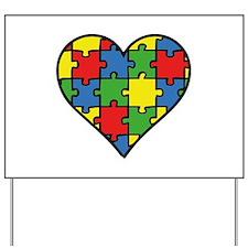 Autism Puzzle Yard Sign