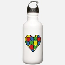 Autism Puzzle Water Bottle