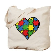 Autism Puzzle Tote Bag