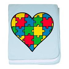 Autism Puzzle baby blanket