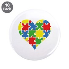 "Autism Puzzle 3.5"" Button (10 pack)"