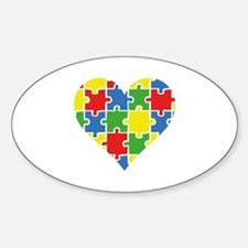 Autism Puzzle Sticker (Oval)