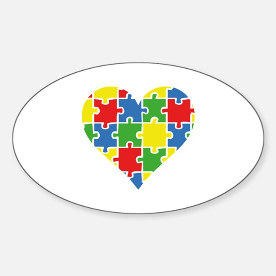 Autism Puzzle Sticker (Oval)