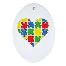 Autism Puzzle Ornament (Oval)
