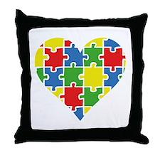 Autism Puzzle Throw Pillow