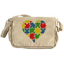 Autism Puzzle Messenger Bag
