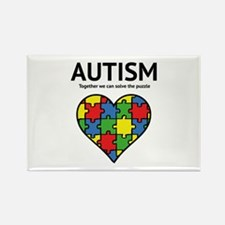 Autism - Together we can solve the puzzle Rectangl