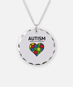 Autism - Together we can solve the puzzle Necklace
