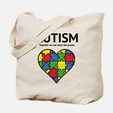 Autism - Together we can solve the puzzle Tote Bag