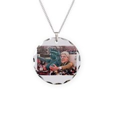 Clinton Politics Necklace Circle Charm