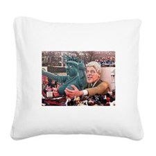 Clinton Politics Square Canvas Pillow