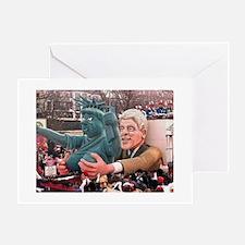 Clinton Politics Greeting Card