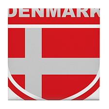 denmark_emblem Tile Coaster