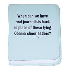 Obama Cheerleaders DO Suck. baby blanket