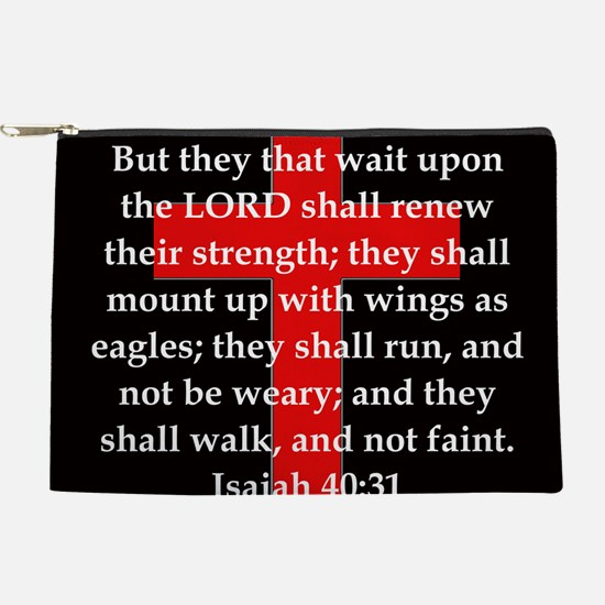 Isaiah 40:31 Makeup Pouch