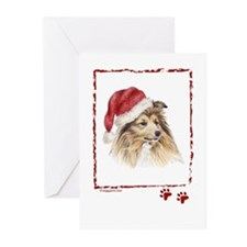 Happy Holidays Shetland Sheepdog Greeting Cards
