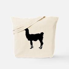 Llama Silhouette Tote Bag