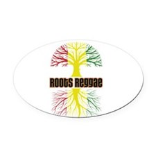 Roots Reggae Designs-2 Oval Car Magnet