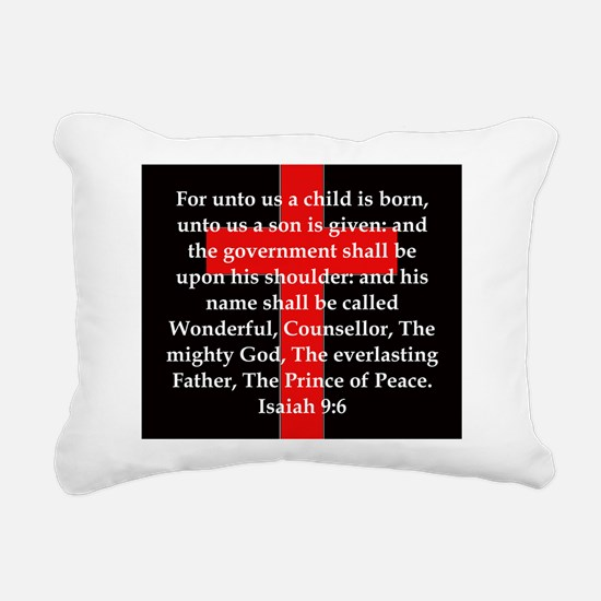 Isaiah 9:6 Rectangular Canvas Pillow