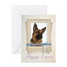 German Shepherd Easter Card