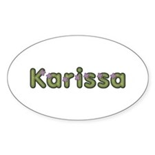 Karissa Spring Green Oval Decal