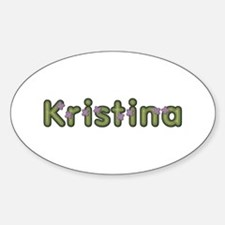 Kristina Spring Green Oval Decal