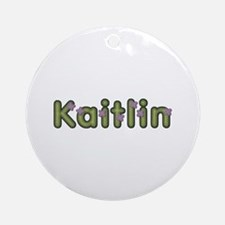 Kaitlin Spring Green Round Ornament
