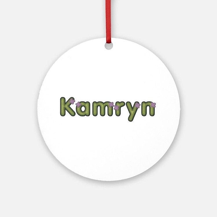 Kamryn Spring Green Round Ornament
