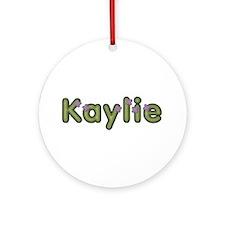 Kaylie Spring Green Round Ornament