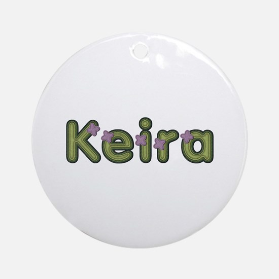 Keira Spring Green Round Ornament