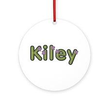 Kiley Spring Green Round Ornament
