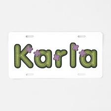 Karla Spring Green Aluminum License Plate
