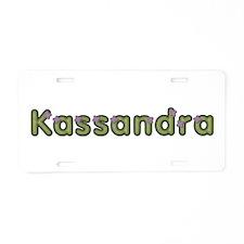 Kassandra Spring Green Aluminum License Plate