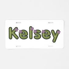 Kelsey Spring Green Aluminum License Plate