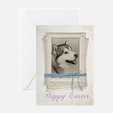Malamute Easter Card