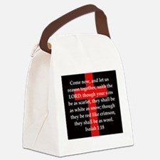 Isaiah 1:18 Canvas Lunch Bag