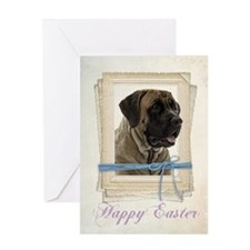 Mastiff Easter Card