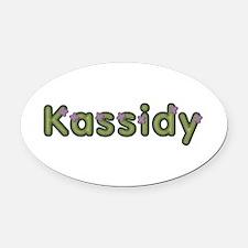 Kassidy Spring Green Oval Car Magnet