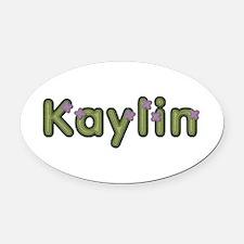 Kaylin Spring Green Oval Car Magnet