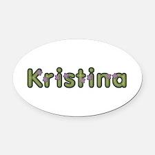 Kristina Spring Green Oval Car Magnet