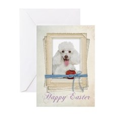 Poodle Easter Card