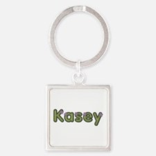 Kasey Spring Green Square Keychain