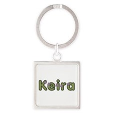 Keira Spring Green Square Keychain