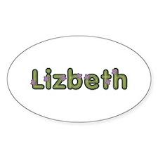 Lizbeth Spring Green Oval Decal