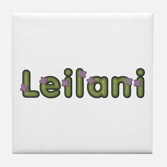 Leilani Spring Green Tile Coaster