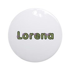 Lorena Spring Green Round Ornament