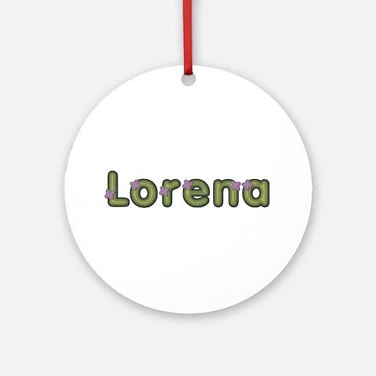 Lorena Spring Green Round Ornament